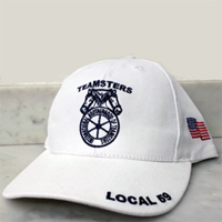 Teamsters Union Local No. 59 White Hat (Baseball Style)