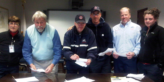 Agency/Terminal Negotiating Committee Members & Observers counting ballots in Woods Hole, MA